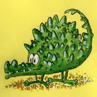 Disegnare il Coccodrillo ciccione